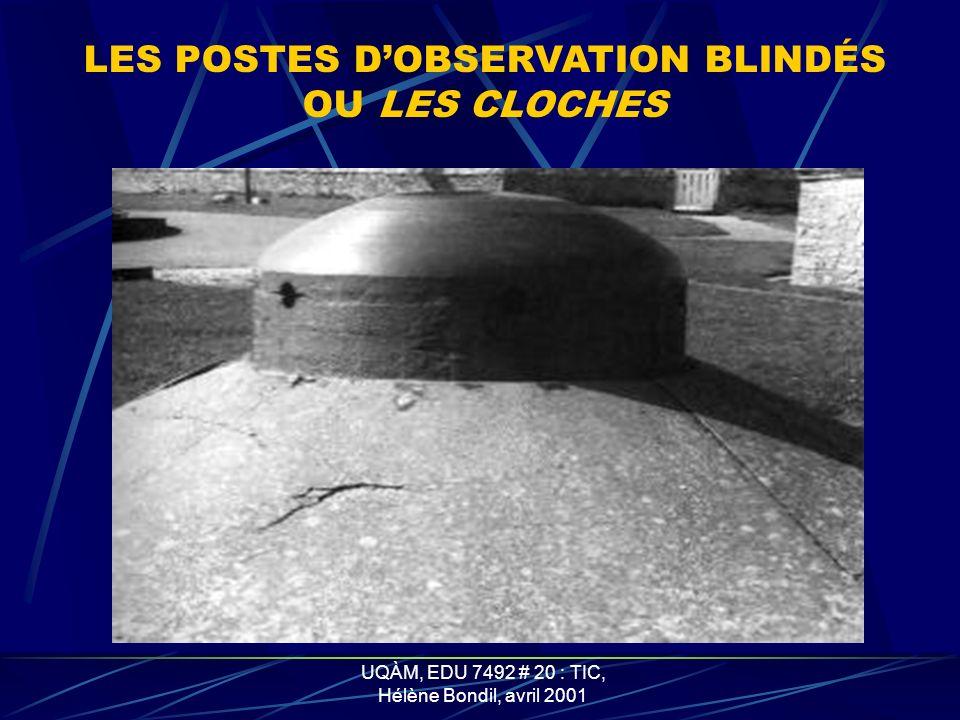 UQÀM, EDU 7492 # 20 : TIC, Hélène Bondil, avril 2001 LES TOBROUKS