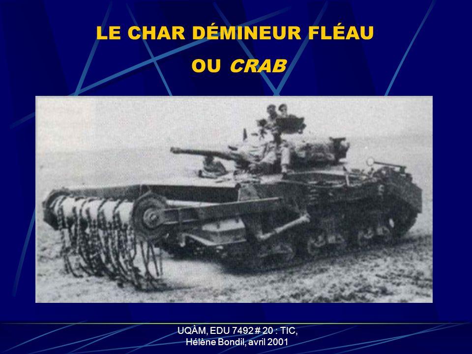 UQÀM, EDU 7492 # 20 : TIC, Hélène Bondil, avril 2001 CHAR AMPHIBIE OU DUPLEX DRIVE AVEC SA JUPE