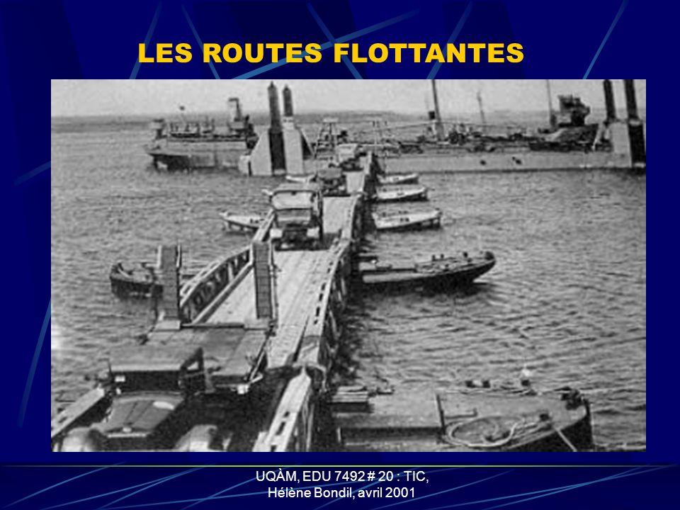 UQÀM, EDU 7492 # 20 : TIC, Hélène Bondil, avril 2001 LES QUAIS DE DÉCHARGEMENT OU SPUDS