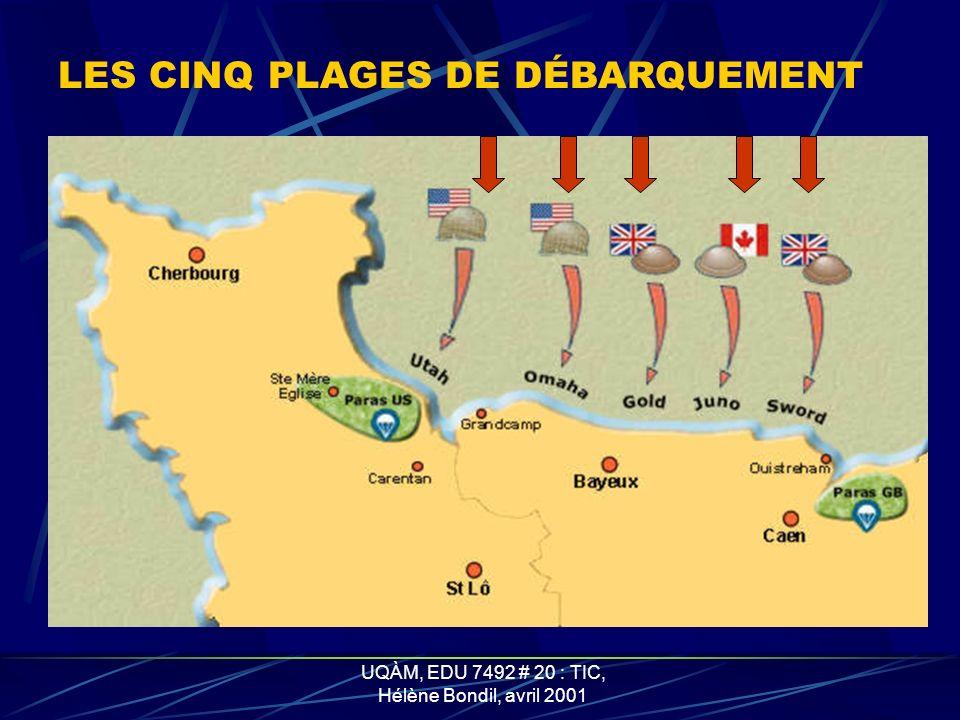UQÀM, EDU 7492 # 20 : TIC, Hélène Bondil, avril 2001 LES DUKW
