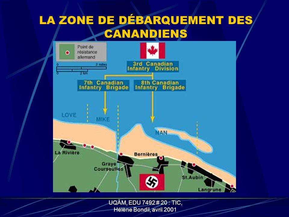 UQÀM, EDU 7492 # 20 : TIC, Hélène Bondil, avril 2001 LES FORCES ALLEMANDES EN NORMANDIE