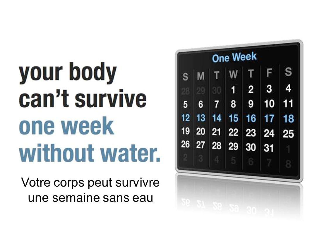 Votre corps peut survivre une semaine sans eau