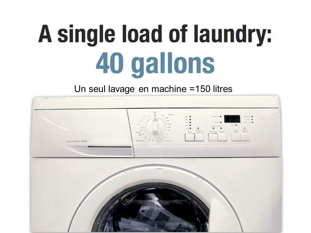 Un seul lavage en machine =150 litres