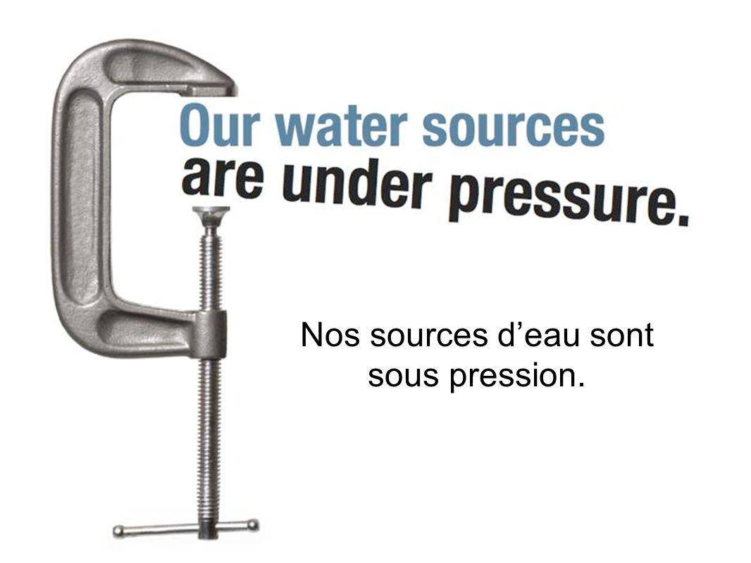 Nos sources deau sont sous pression.