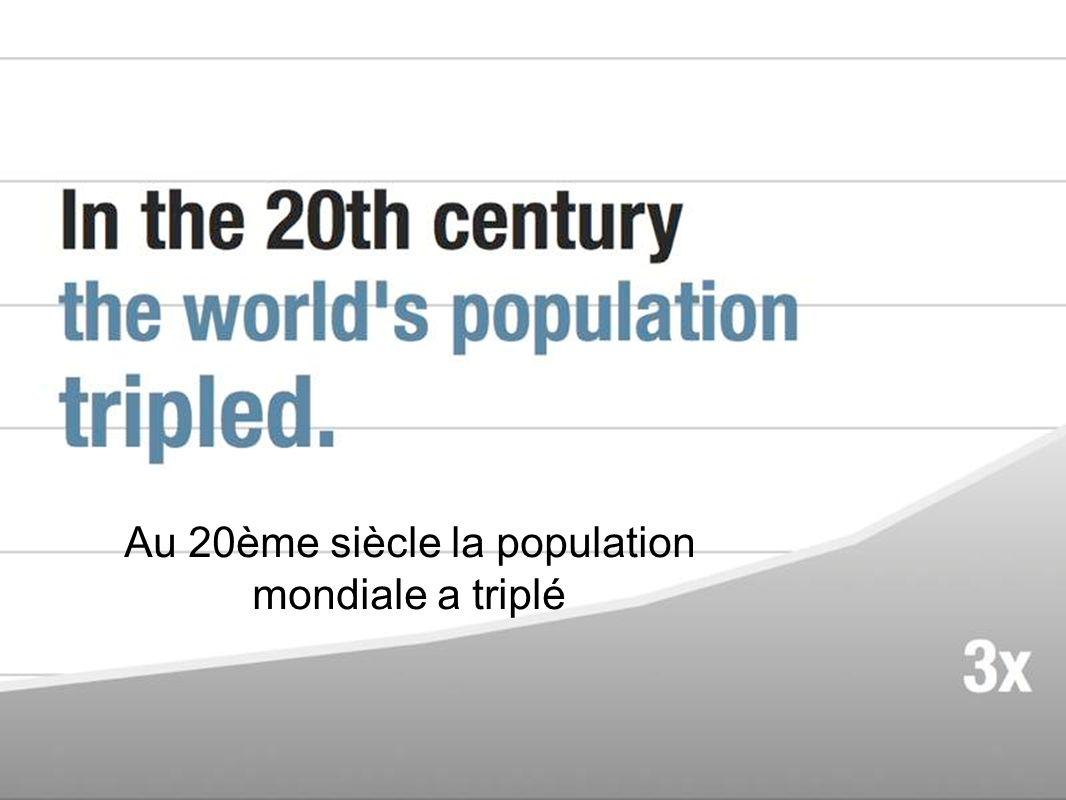 Au 20ème siècle la population mondiale a triplé