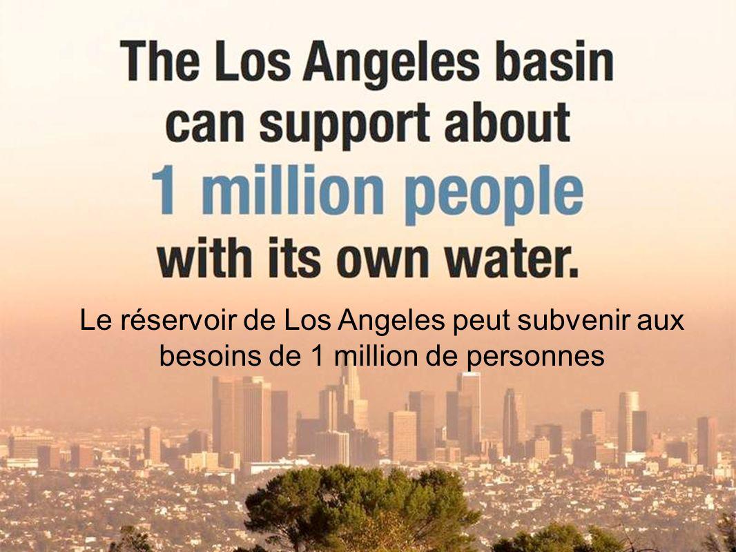 Le réservoir de Los Angeles peut subvenir aux besoins de 1 million de personnes