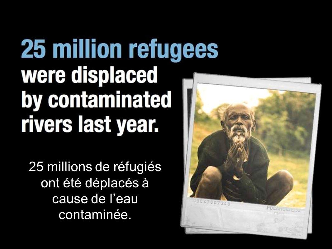25 millions de réfugiés ont été déplacés à cause de leau contaminée.