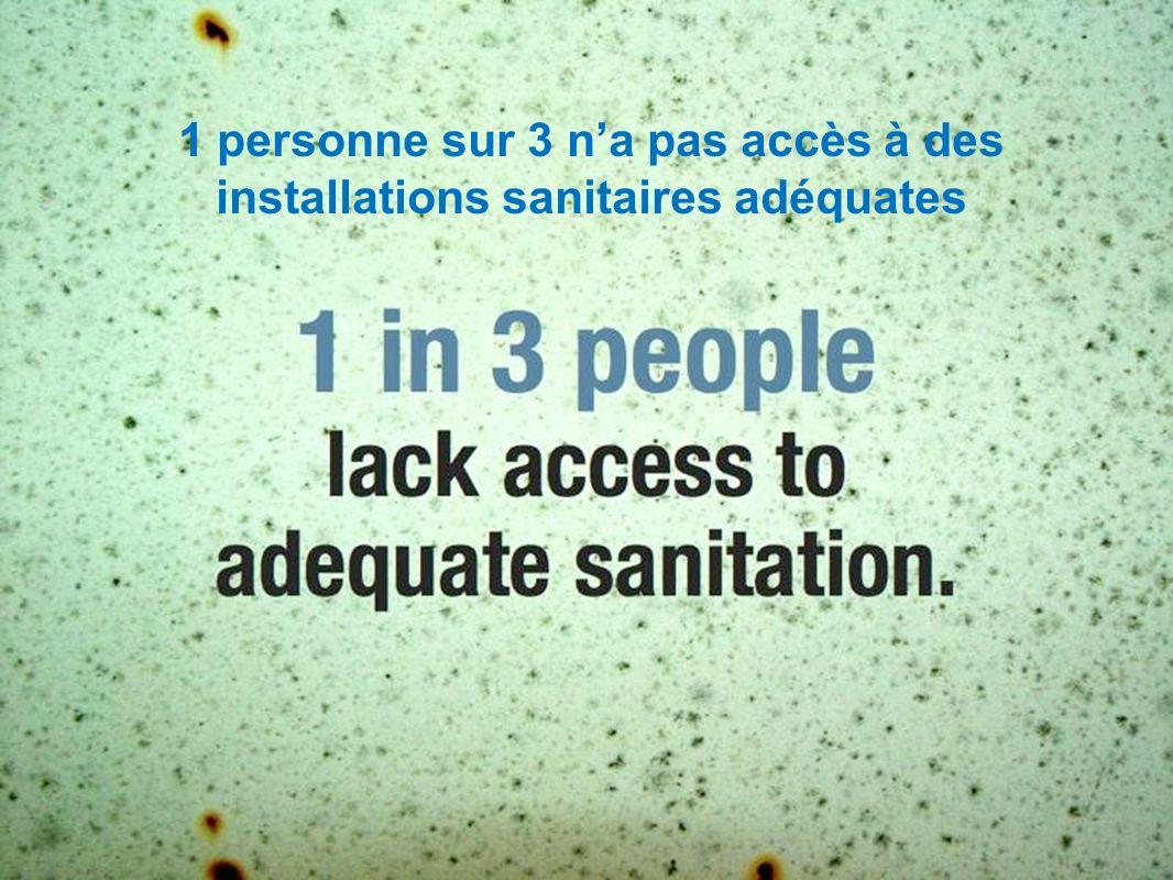 1 personne sur 3 na pas accès à des installations sanitaires adéquates