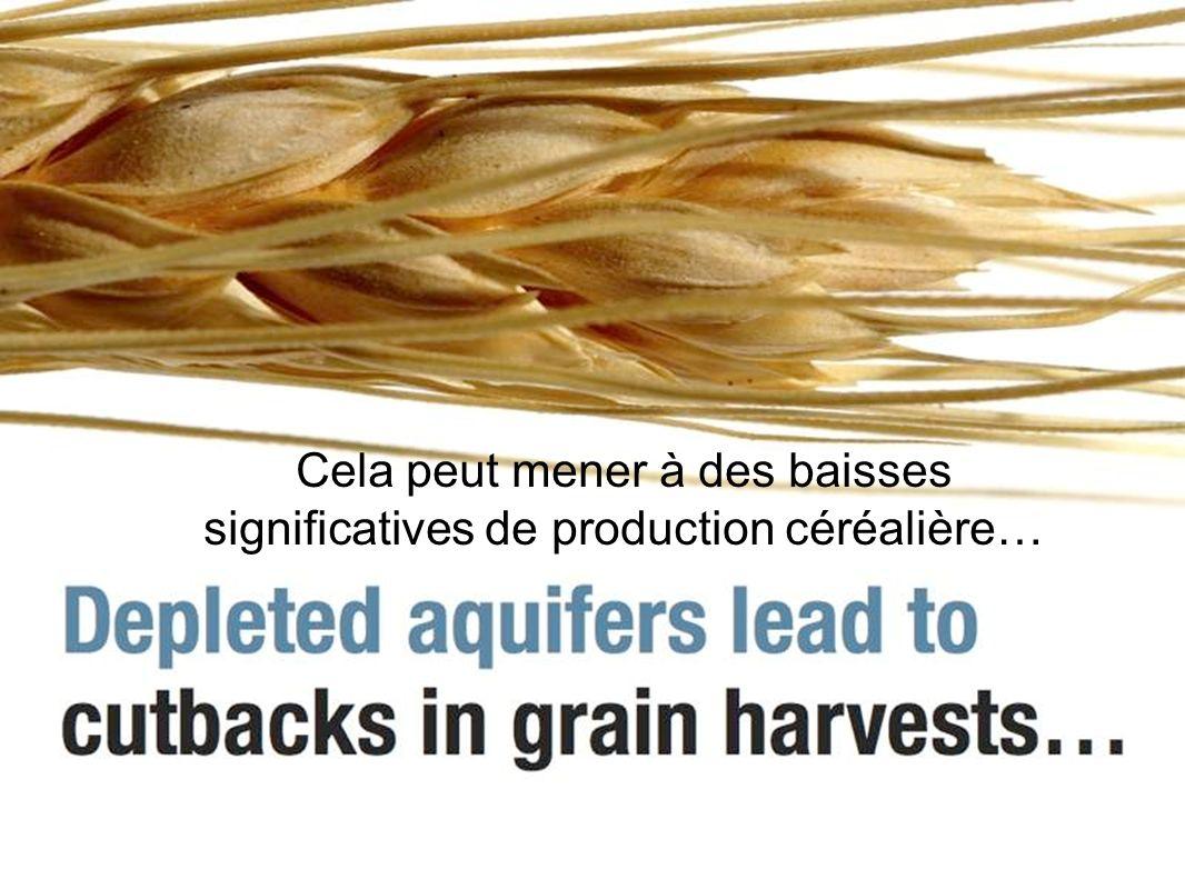 Cela peut mener à des baisses significatives de production céréalière…