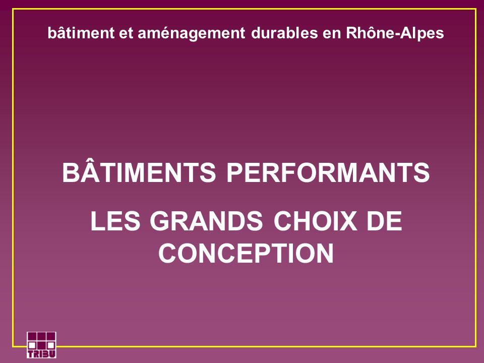 BÂTIMENTS PERFORMANTS LES GRANDS CHOIX DE CONCEPTION bâtiment et aménagement durables en Rhône-Alpes