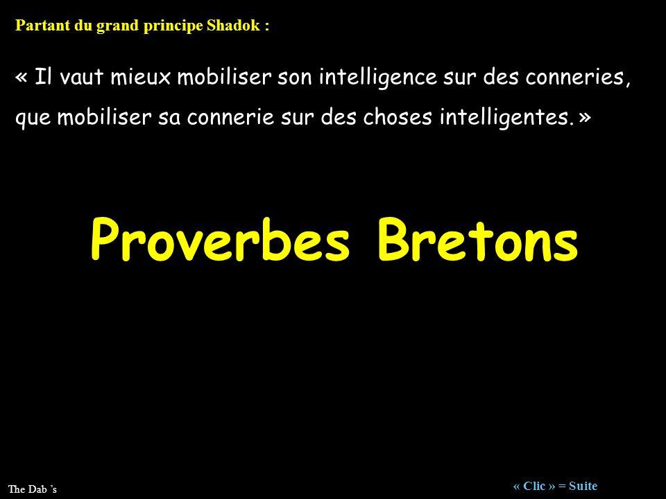 « Il vaut mieux mobiliser son intelligence sur des conneries, que mobiliser sa connerie sur des choses intelligentes. » Partant du grand principe Shad