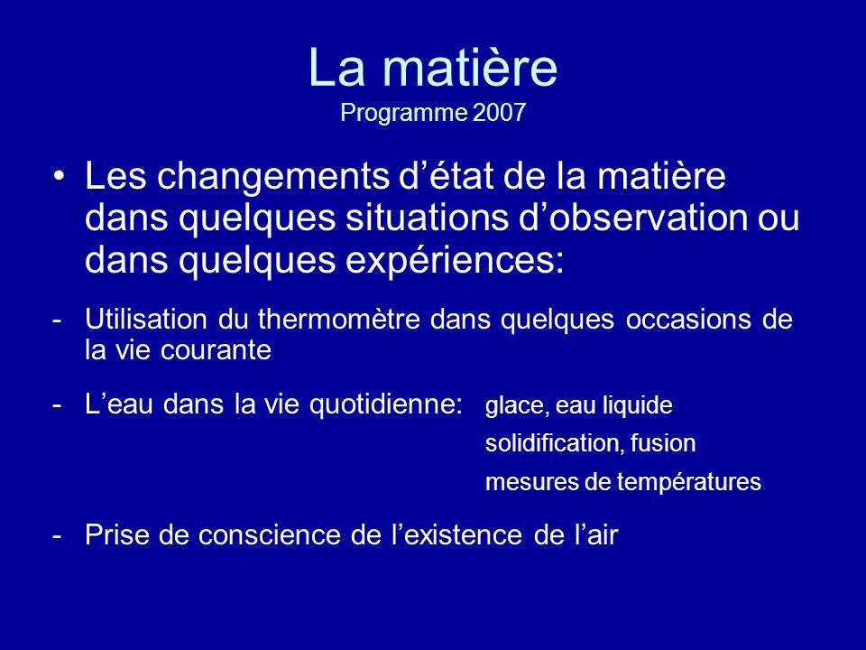 La matière LeauLair GS CP CE1