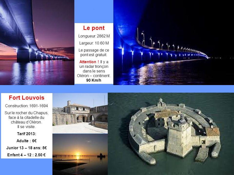 Le pont Longueur: 2862 M Largeur: 10.60 M Le passage de ce pont est gratuit.