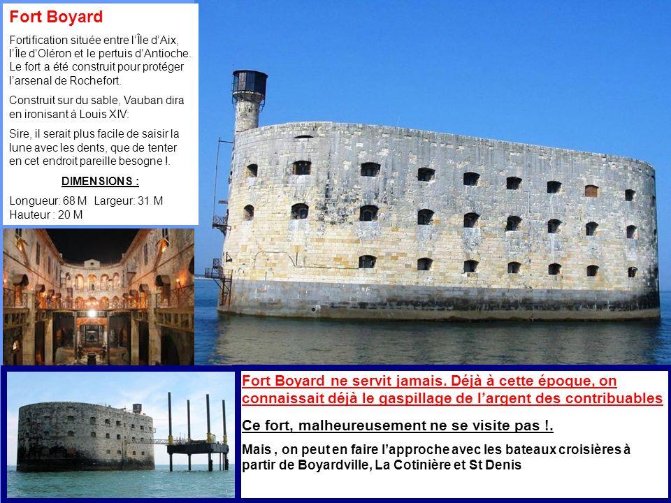 Fort Boyard Fortification située entre lÎle dAix, lÎle dOléron et le pertuis dAntioche.