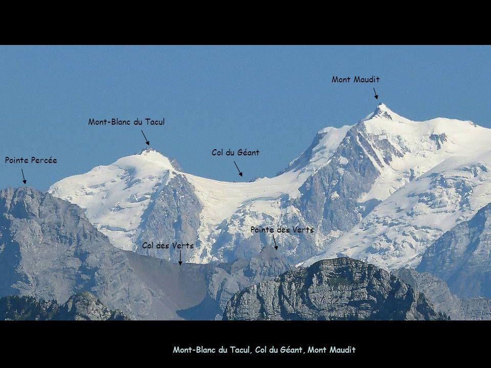 Mont-Blanc du Tacul, Col du Géant, Mont Maudit Mont-Blanc du Tacul Mont Maudit Col du Géant Pointe Percée Col des Verts Pointe des Verts