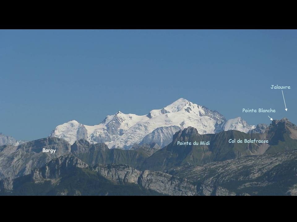 Bargy Pointe du Midi Col de Balafrasse Jalouvre Pointe Blanche