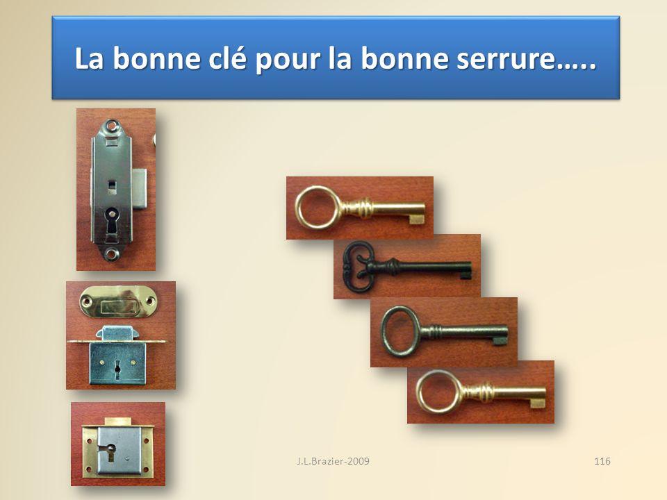 La bonne clé pour la bonne serrure….. 116J.L.Brazier-2009