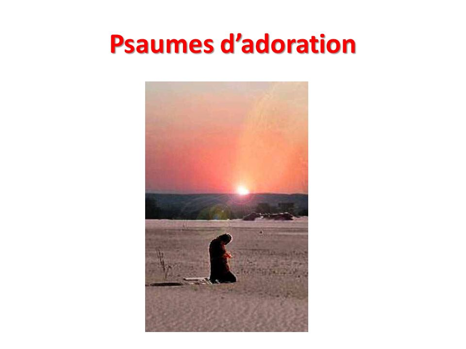 Psaumes dadoration