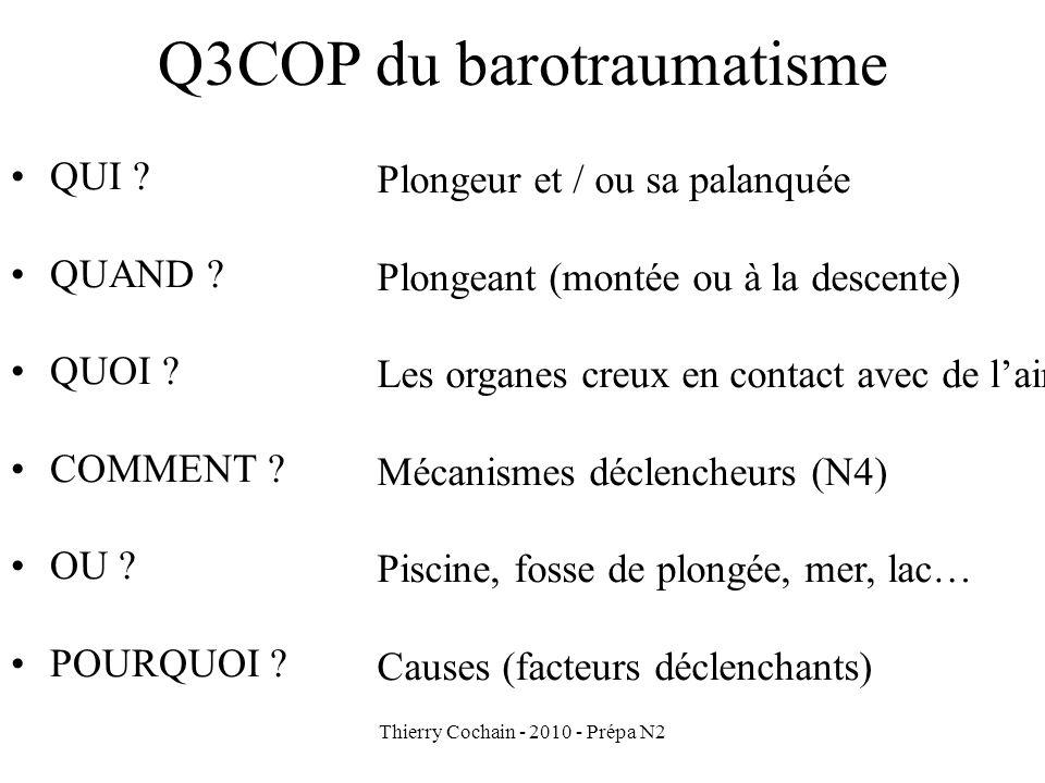 Thierry Cochain - 2010 - Prépa N2 Q3COP du barotraumatisme QUI .