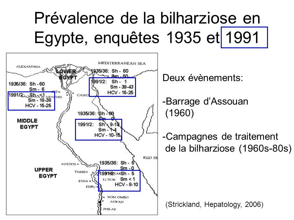 Proportion avec anticorps anti-VHC parmi les 10-50 ans, enquête nationale, 1996 SUDAN Mer méditerranée Mer Rouge 8% 28% 6% 26% 19% (Frank C et coll., Lancet, 2000) Génotype 4