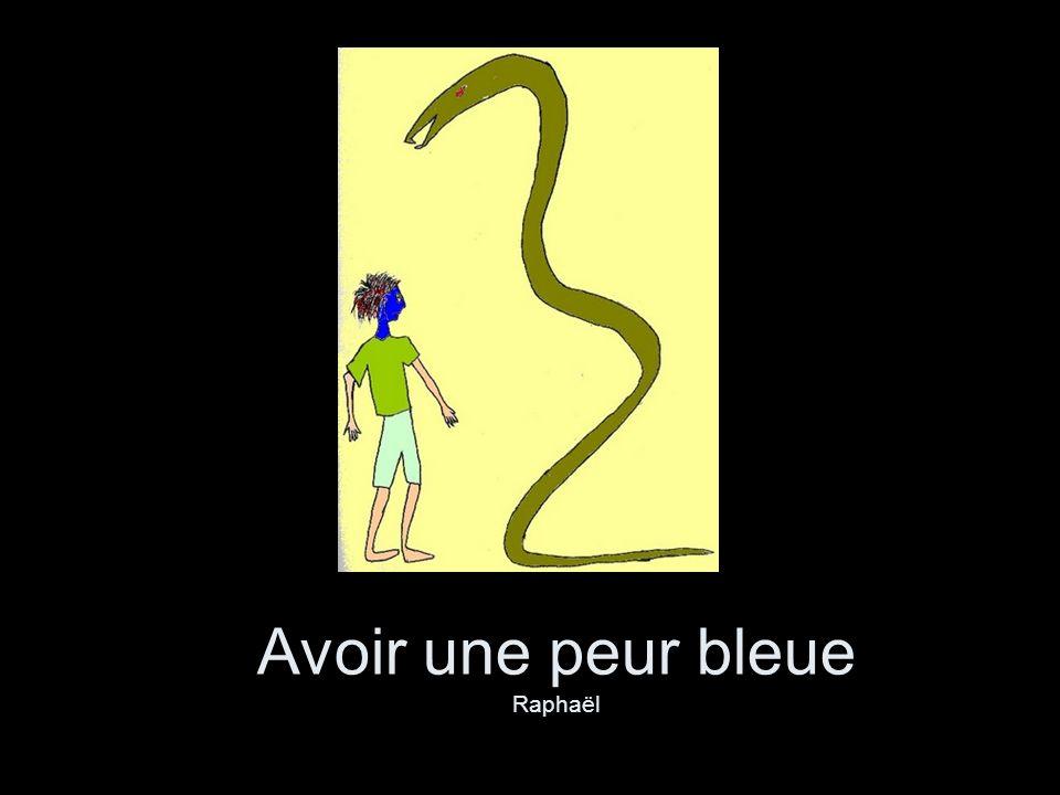 Avoir une peur bleue Raphaël