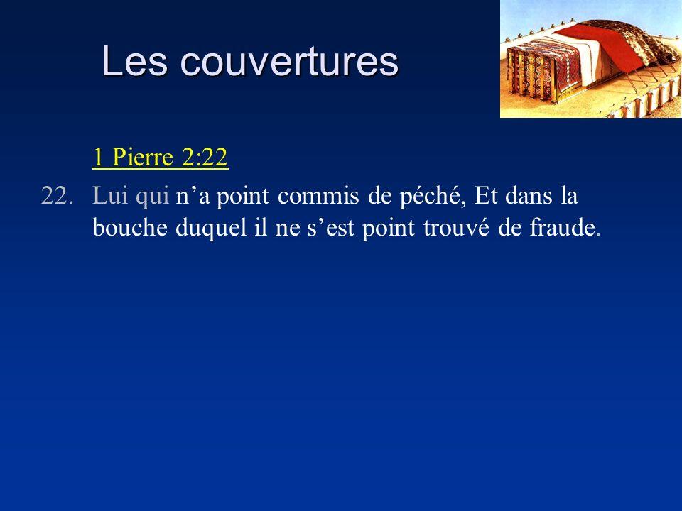 Les couvertures 1 Pierre 2:22 22.Lui qui na point commis de péché, Et dans la bouche duquel il ne sest point trouvé de fraude.