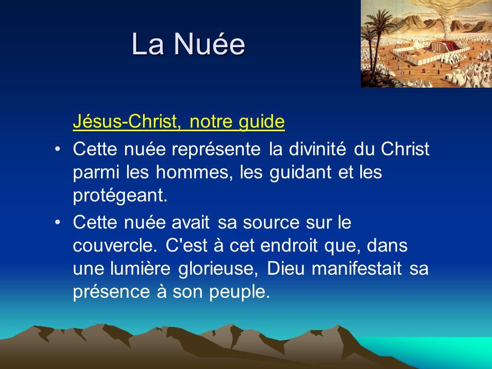 Jésus-Christ, notre guide Cette nuée représente la divinité du Christ parmi les hommes, les guidant et les protégeant.