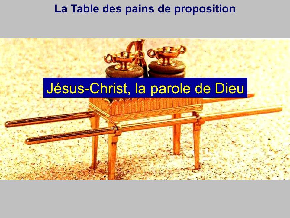 La Table des pains de proposition Jésus-Christ, la parole de Dieu