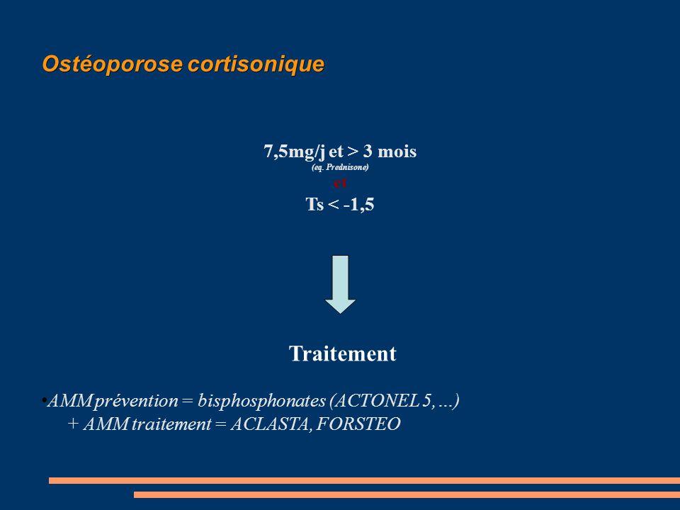 Ostéoporose cortisonique 7,5mg/j et > 3 mois (eq.