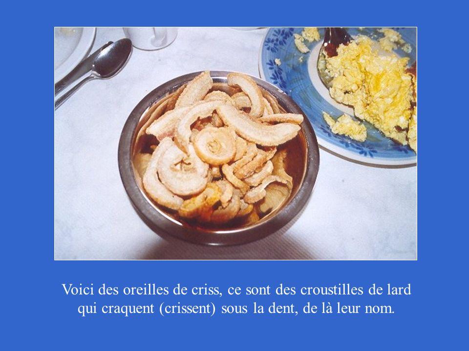 Fèves au lard ou beans Voici le repas: