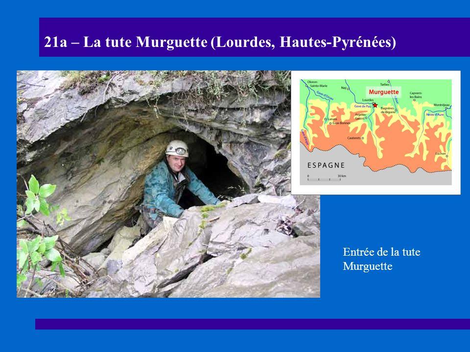 21b – La tute Murguette (Lourdes, Hautes-Pyrénées) Pendants et remplissages grossiers dans les parties basses de la tute Murguette