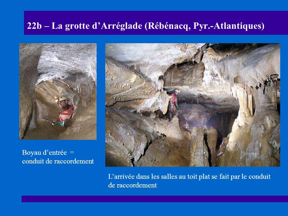 22c – La grotte dArréglade (Rébénacq, Pyr.-Atlantiques) Section de galerie de la grotte dArréglade