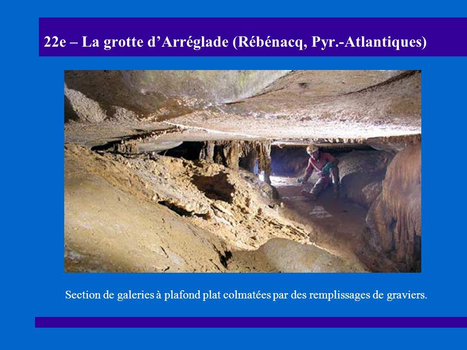 22f – La grotte dArréglade (Rébénacq, Pyr.-Atlantiques) Galerie dentrée de la grotte dArréglade.