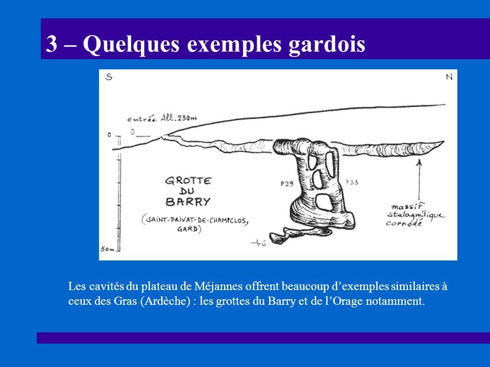 31 – Laven Grégoire (Tharaux, Gard) Les cavités du plateau de Méjannes situées en bordure de la Cèze, comme laven Grégoire, sont des conduits de raccordement au niveau de base régional.