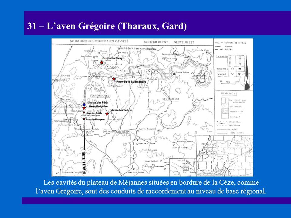 32 – Laven Grégoire (Tharaux, Gard) Coupe de laven Grégoire.
