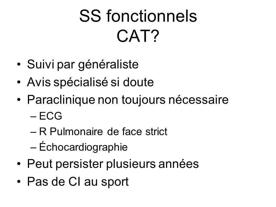 SS fonctionnels CAT.