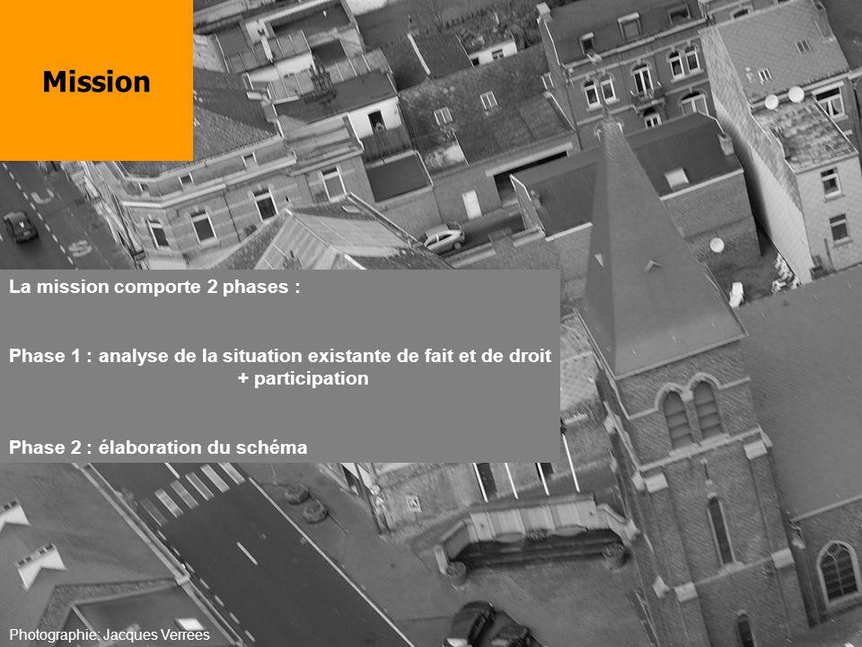 La mission comporte 2 phases : Phase 1 : analyse de la situation existante de fait et de droit + participation Phase 2 : élaboration du schéma Mission