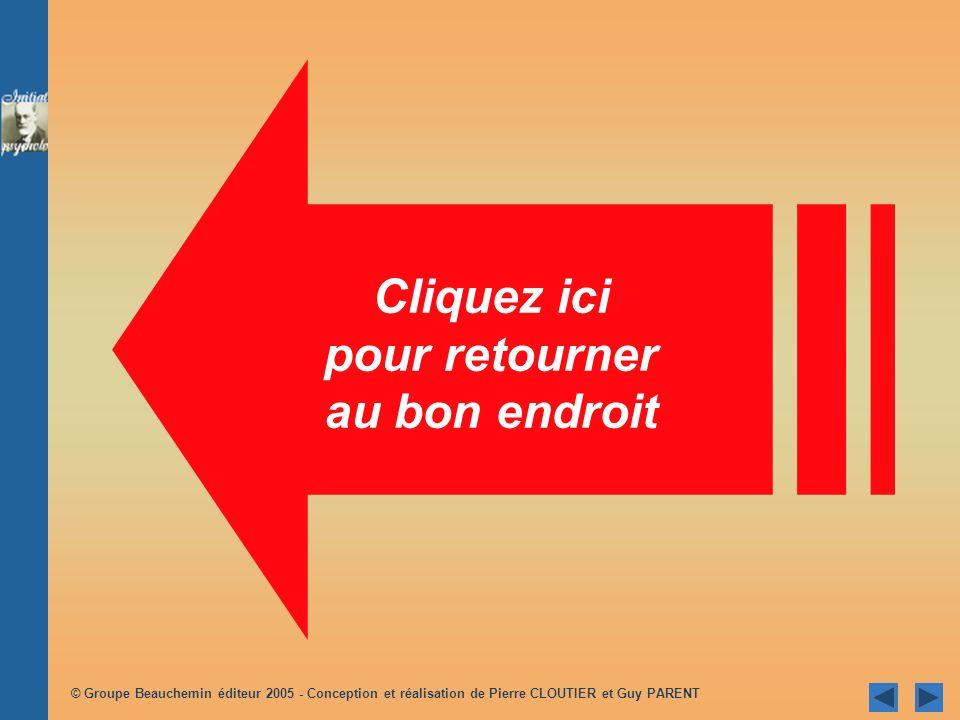 © Groupe Beauchemin éditeur 2005 - Conception et réalisation de Pierre CLOUTIER et Guy PARENT Retour