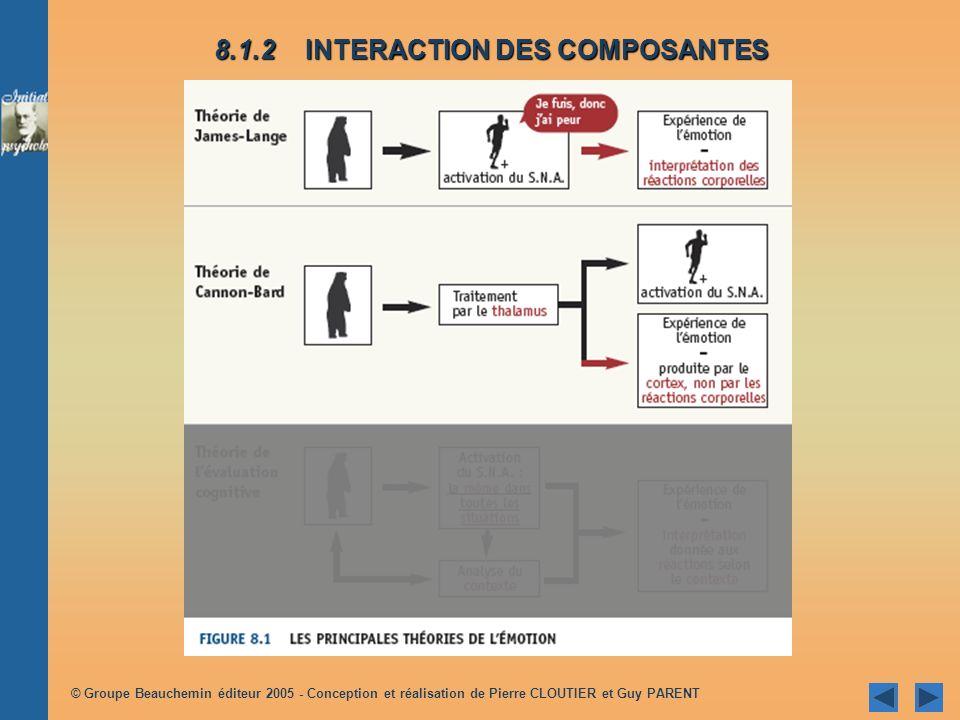 © Groupe Beauchemin éditeur 2005 - Conception et réalisation de Pierre CLOUTIER et Guy PARENT 8.1.2 INTERACTION DES COMPOSANTES