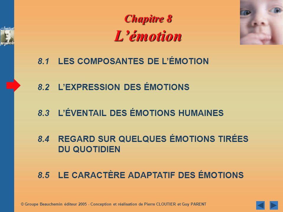 © Groupe Beauchemin éditeur 2005 - Conception et réalisation de Pierre CLOUTIER et Guy PARENT 8.1.2 INTERACTION DES COMPOSANTES Figure 8.2