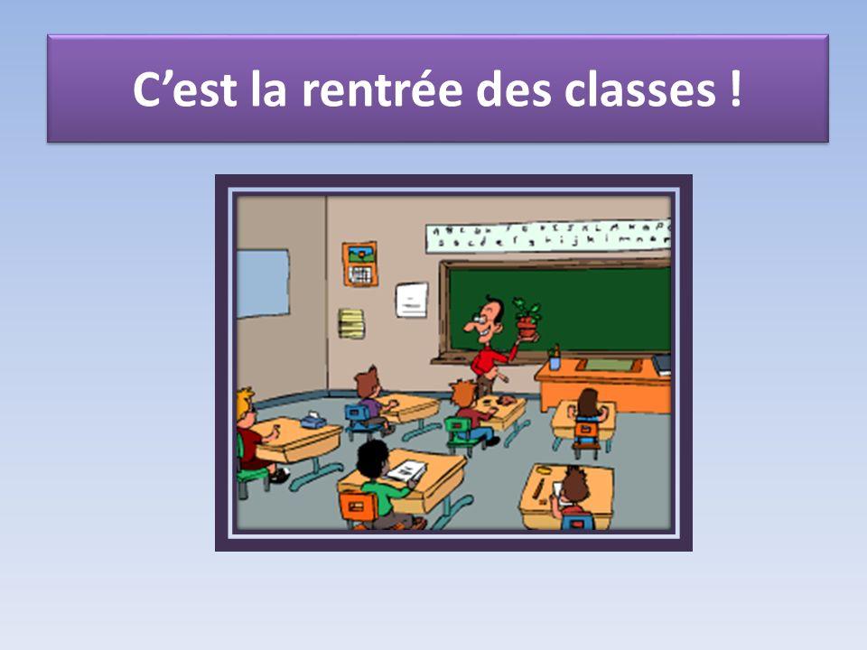 Cest la rentrée des classes !