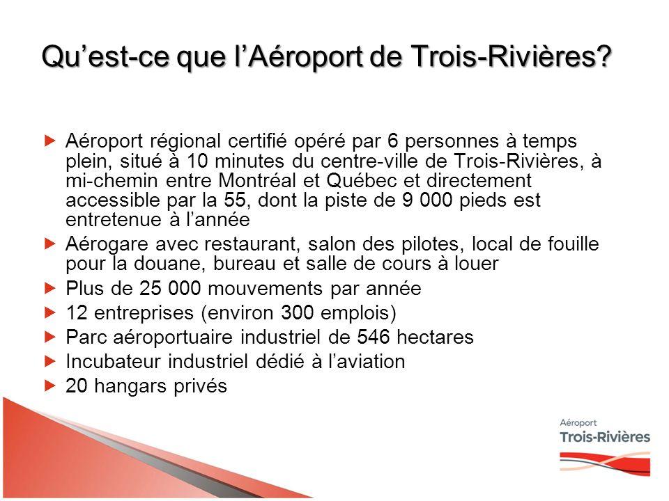 Quest-ce que lAéroport de Trois-Rivières.