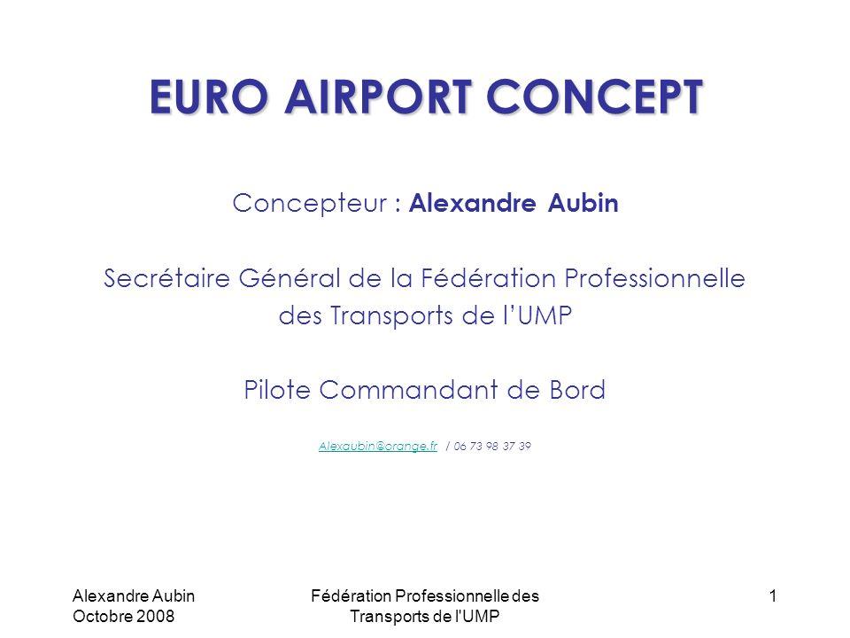 Alexandre Aubin Octobre 2008 Fédération Professionnelle des Transports de l'UMP 1 EURO AIRPORT CONCEPT Concepteur : Alexandre Aubin Secrétaire Général