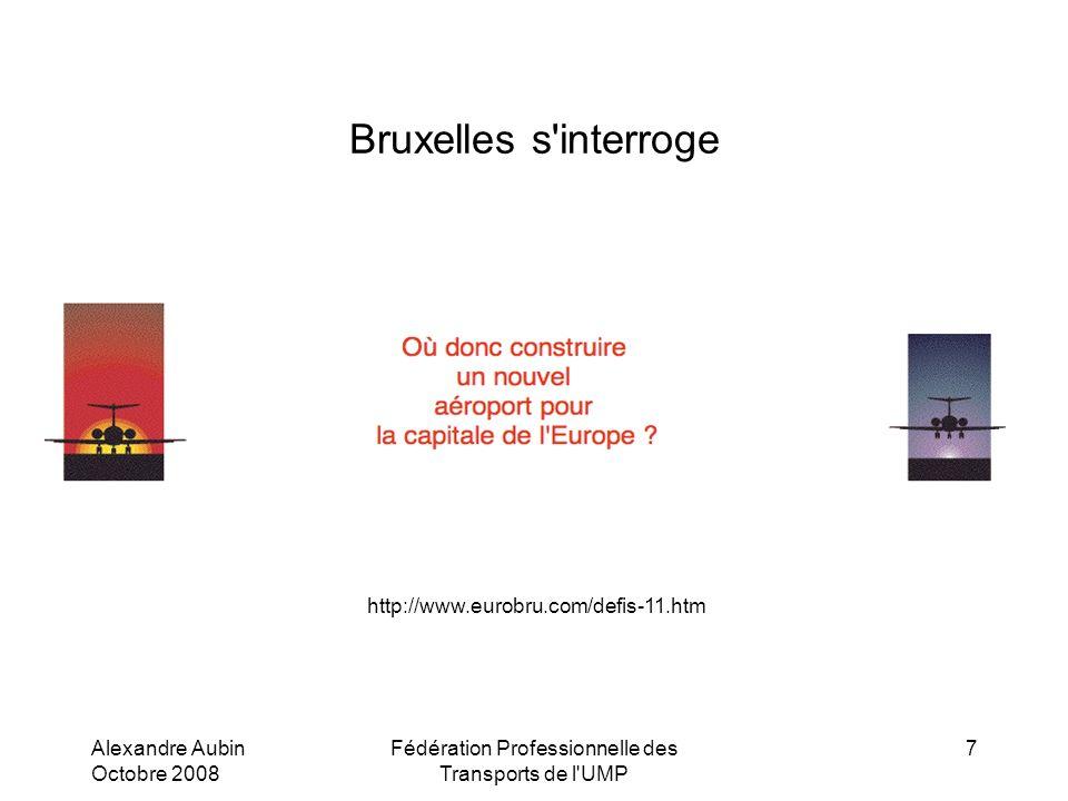 Alexandre Aubin Octobre 2008 Fédération Professionnelle des Transports de l UMP 7 Bruxelles s interroge http://www.eurobru.com/defis-11.htm