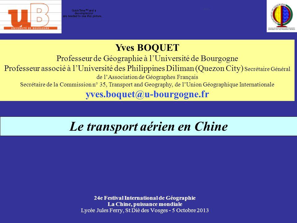 Le décollage de laviation chinoise, 1980-2005 Base 100 en 1980 Source : China Transportation Yearbook (Zhongguo Jiaotong Nianjian)