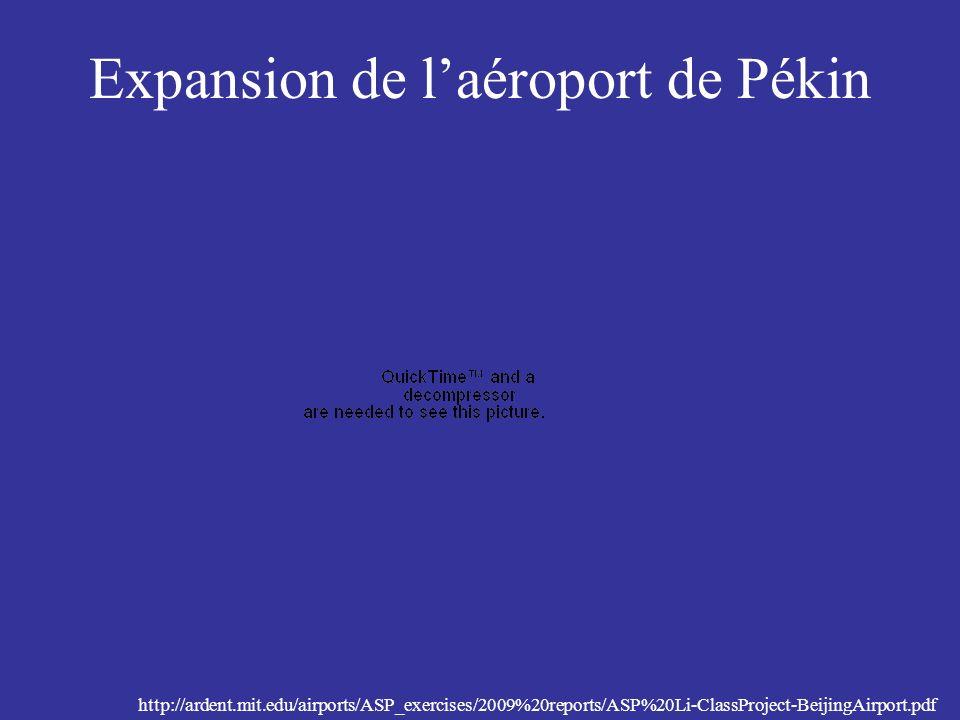 Expansion de laéroport de Pékin http://ardent.mit.edu/airports/ASP_exercises/2009%20reports/ASP%20Li-ClassProject-BeijingAirport.pdf
