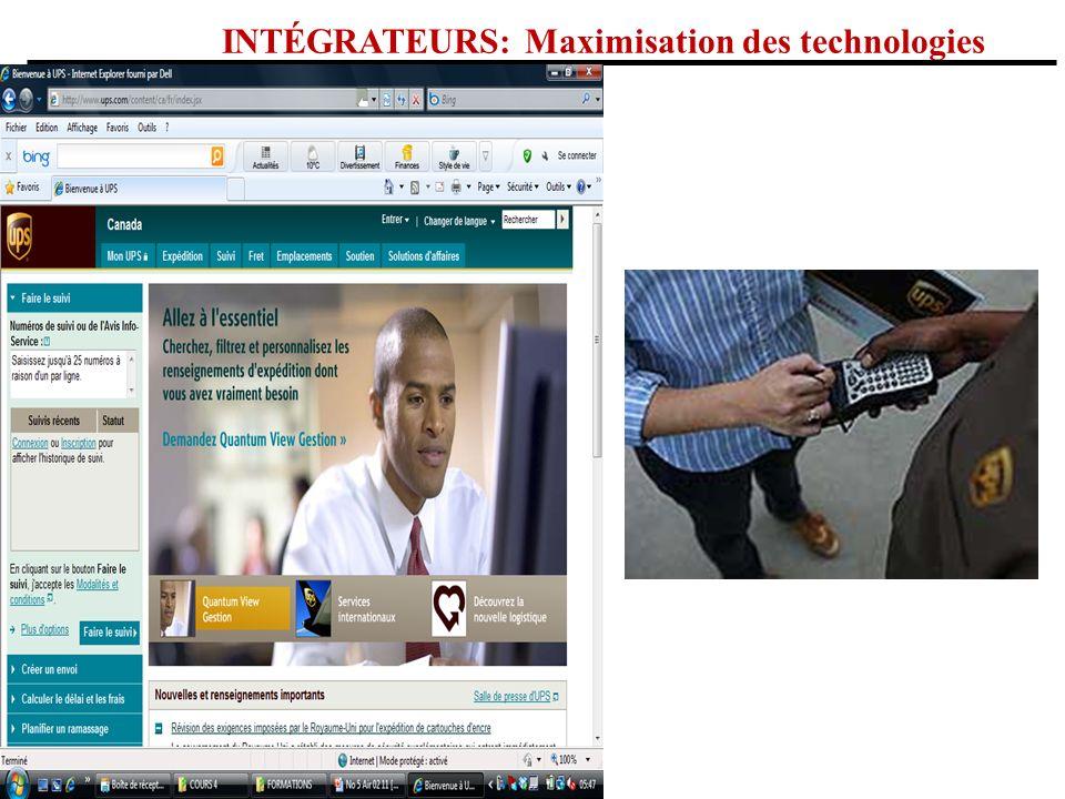 INTÉGRATEURS: Maximisation des technologies