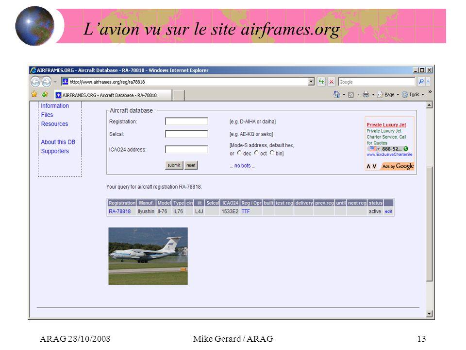 ARAG 28/10/2008Mike Gerard / ARAG13 Lavion vu sur le site airframes.org