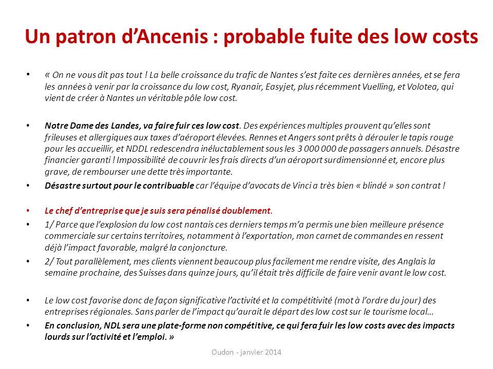 « On ne vous dit pas tout ! La belle croissance du trafic de Nantes sest faite ces dernières années, et se fera les années à venir par la croissance d