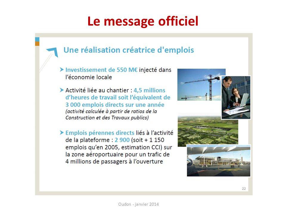 Le message officiel Oudon - janvier 2014